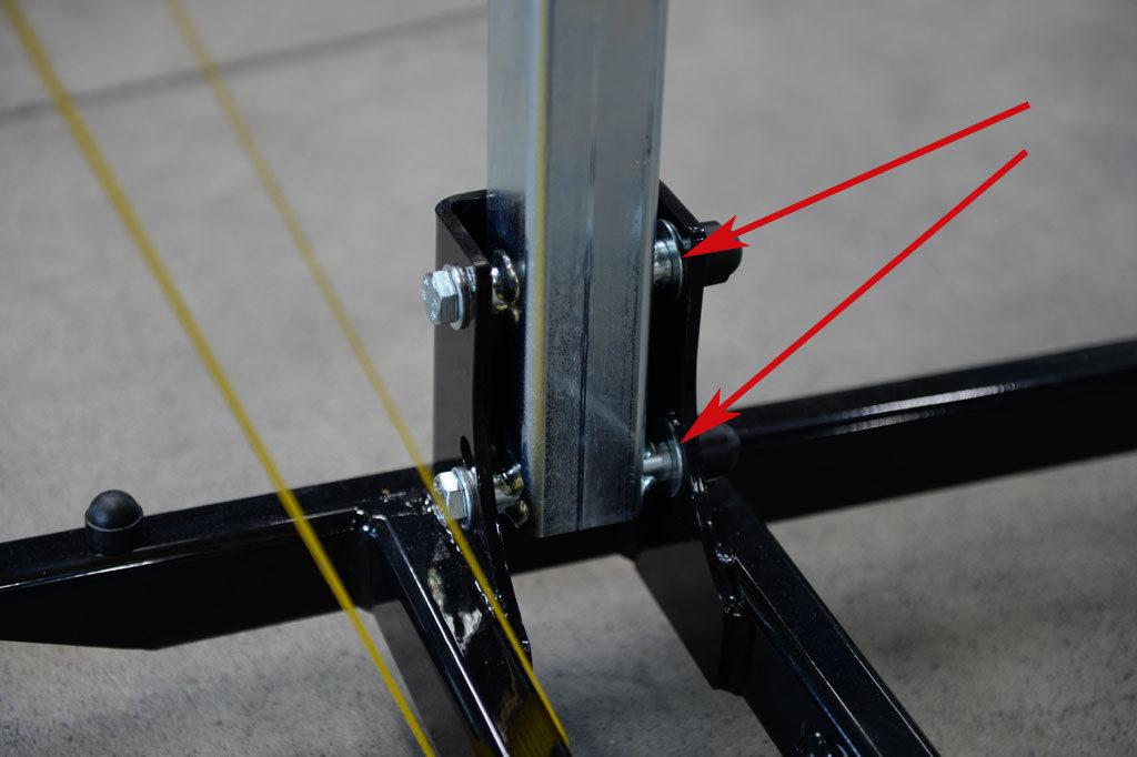 Kern-Stabi Speed-Lifter Unterlegscheiben zwischen Rollgestell und Mast