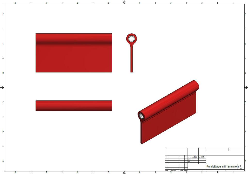 Dichtlippe als Entwurf in Autodesk Inventor