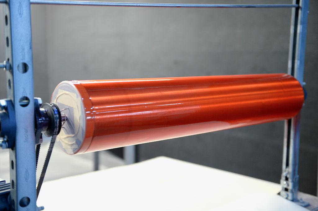 6 Schichten Zweihorn Crystallit 2K-PUR-Klarlack auf der Sekundärspule