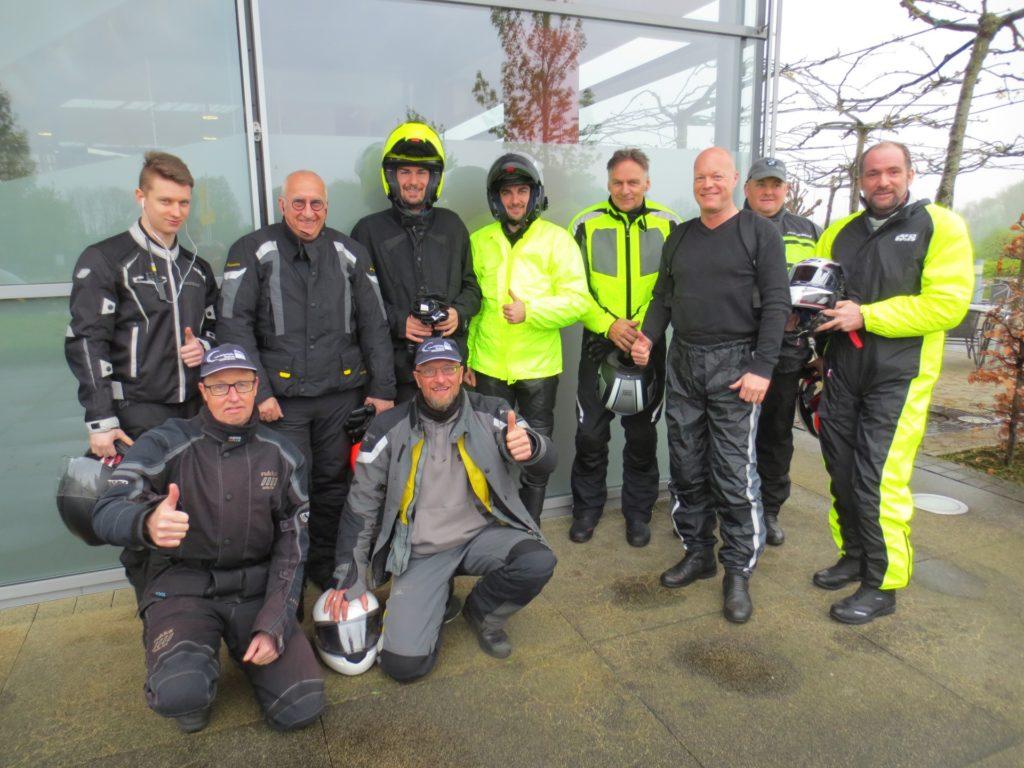 Teilnehmer des Motorrad Exklusiv-Trainings