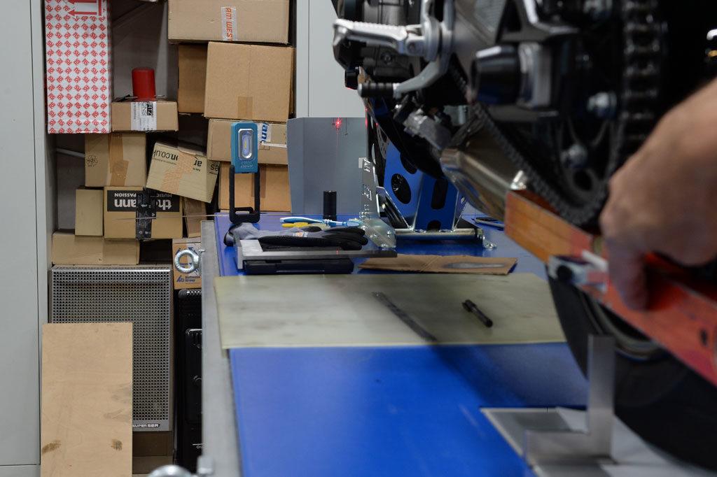 Laserpunkt linksseitig 118 mm