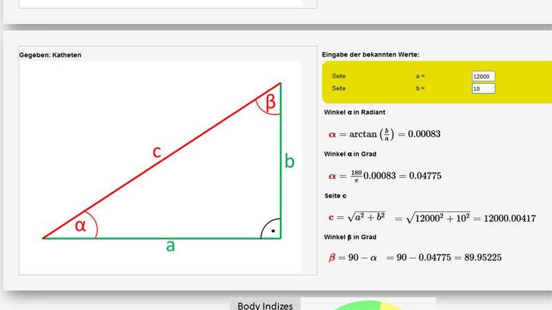 Online Rechner Trigonometrie