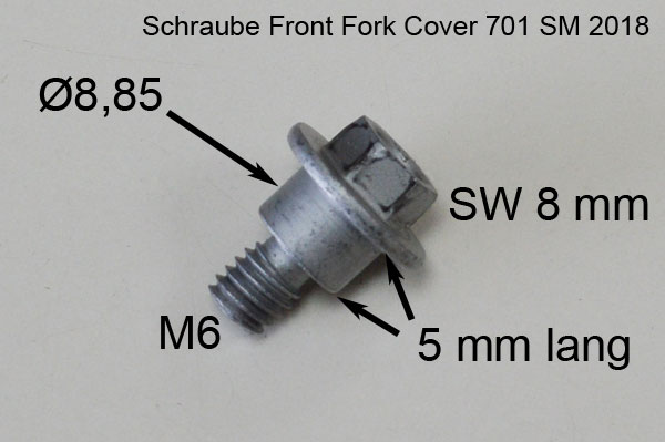 Front Fork Cover Screw